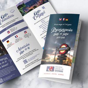 impresión de folletos trípticos en madrid baratos