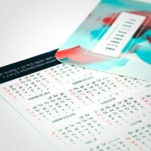 Impresión personalizada de Calendarios de Bolsillo