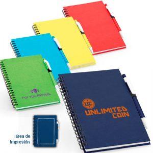 Libreta con Boligrafo Personalizada low cost