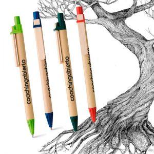Bolígrafos ecológicos carton craft personalizado