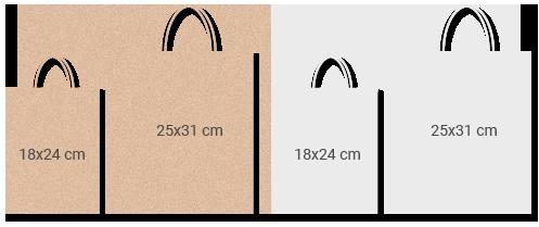 bolsas papel asa rizada