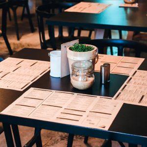 Manteles individuales de pale para restaurantes