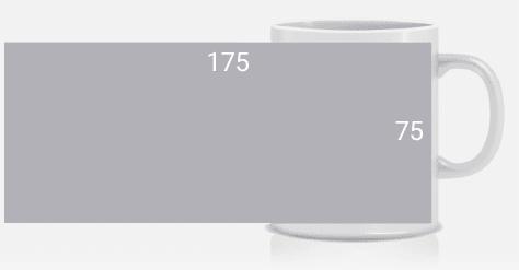 medida impresión tazas