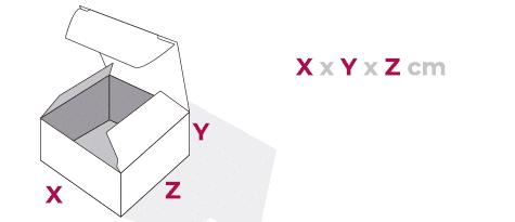 Caja con tapa de uña